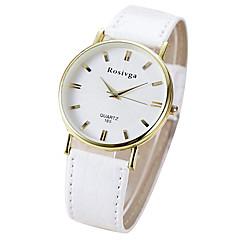 Couple's Wrist watch Quartz Casual Watch PU Band Black White