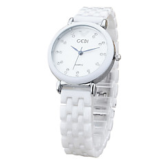 preiswerte Damenuhren-Damen Armbanduhr Armbanduhren für den Alltag Keramik Band Charme / Modisch Weiß