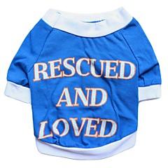 お買い得  犬用ウェア&アクセサリー-犬 Tシャツ 犬用ウェア 花/植物 ブルー コットン コスチューム ペット用 男性用 女性用 ファッション