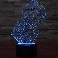 ieftine -anteresting lampă de masă 3d iluzie tri-dimensională de lumină sita de noapte a condus