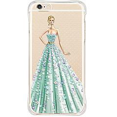 Для Кейс для iPhone 6 / Кейс для iPhone 6 Plus Защита от удара / Водонепроницаемый Кейс для Задняя крышка Кейс для Соблазнительная девушка