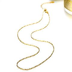 Недорогие Ожерелья-Муж. / Жен. Ожерелья-цепочки - Мода Золотой Ожерелье Назначение Для вечеринок, Повседневные, Офис