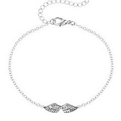 Χαμηλού Κόστους Βραχιόλια-Γυναικεία Βραχιόλια με Αλυσίδα & Κούμπωμα Μοντέρνα Λατρευτός Κράμα Φτερά / Φτερό Ασημί Χρυσαφί Κοσμήματα ΓιαΚαθημερινά Causal