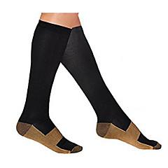 Térdig érő zoknik Uniszex Tömörítés mert Fitnessz Verseny Futás