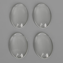 beadia 10db 20x30mm lapos, ovális, átlátszó üvegből készült cabochon a fülbevaló karkötő nyaklánc ékszer készítés