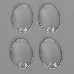 beadia의 10PCS는 귀걸이 팔찌 목걸이의 보석 결정을위한 평면 타원형 투명 유리 카보 숑을 20x30mm