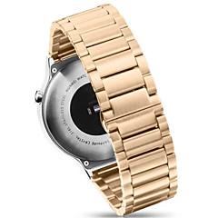 Черный / Роуз / Золотистый / Серебристый Нержавеющая сталь / Металл Современная застежка / Металлический браслет Для Huawei Смотреть 18мм