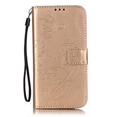 Για Samsung Galaxy Θήκη Πορτοφόλι / Θήκη καρτών / με βάση στήριξης / Ανοιγόμενη / Ανάγλυφη tok Πλήρης κάλυψη tok Λουλούδι ΜαλακήΣυνθετικό