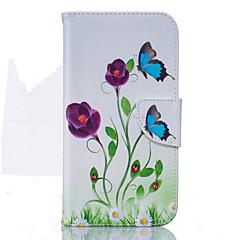 olcso Motorola tokok-Mert Motorola tok Pénztárca / Kártyatartó / Állvánnyal / Flip Case Teljes védelem Case Pillangó Kemény Műbőr Motorola MOTO G4