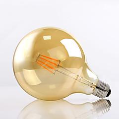 お買い得  LED 電球-HRY 1個 8W 760lm E26 / E27 フィラメントタイプLED電球 G125 8 LEDビーズ COB 装飾用 温白色 220-240V