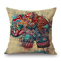 1pcs 잉크 그림 코끼리 무늬 코 튼 베개 커버