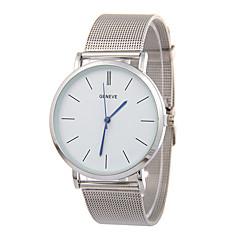 preiswerte Herrenuhren-Herrn Armbanduhr Chinesisch Armbanduhren für den Alltag Edelstahl Band Luxus / Minimalistisch Silber / Gold