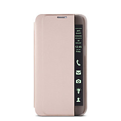 For Samsung Galaxy Note Støvsikker / Med stativ / Med vindue / Auto sov/vågn / Flip / Ultratyndt Etui Heldækkende Etui Helfarve Hårdt