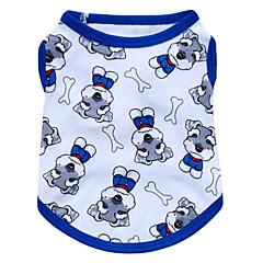 お買い得  犬用ウェア&アクセサリー-ネコ 犬 Tシャツ 犬用ウェア 動物 レッド ブルー ピンク コットン コスチューム ペット用 男性用 女性用 ファッション