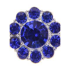 Forma de Círculo Forma Geométrica Perla Diamante Sintético Legierung Europeo Blanco Amarillo Verde Azul Rosa Joyas Para 1 pieza