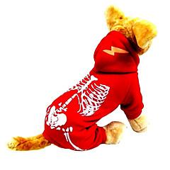 お買い得  猫の服-ネコ 犬 コスチューム セット ジャンプスーツ 犬用ウェア スカル ブラック レッド ナイロン コーデュロイ コスチューム ペット用 男性用 女性用 コスプレ ハロウィーン