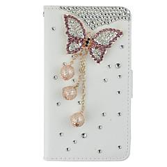 Для Samsung Galaxy Note Бумажник для карт / Кошелек / Стразы / со стендом / Флип Кейс для Чехол Кейс для 3D в мультяшном стиле Твердый