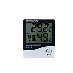 cheap Test, Measure & Inspection Equipment-Digital Thermometer Htc-1 Indoor And Outdoor Electronic Hygrometer Electronic Clock Hygrometer