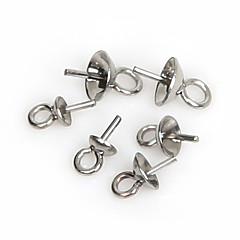 olcso Gyöngyök és ékszerkészítés-beadia 150db rozsdamentes acél szem pin fél lyuk varázsát medál (vegyes 3 méretben)