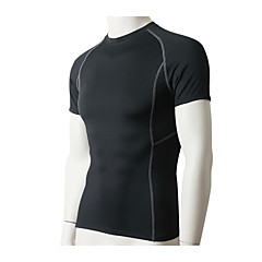 남성용 러닝 티셔츠 짧은 소매 빠른 드라이 통기성 스트레치 압축 땀 흡수 기능성 소재 츄리닝 상의 티셔츠 컴프레션 의류 탑스 용 운동&피트니스 달리기 단단히 블랙 그레이 레드 블루 라이트 그린 M L XL XXL XXXL
