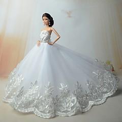Düğün Elbiseler İçin Barbie Bebek Elbiseler İçin Kız Oyuncak bebek