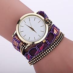 Damskie Modny Zegarek na nadgarstek Zegarek na bransoletce Kwarcowy / Tkanina Pasmo Cętki Artystyczny NowoczesneCzarny Biały Niebieski