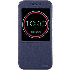tanie Etui / Pokrowce do HTC-Na Etui do HTC Z podpórką / Z okienkiem / Auto uśpienie/włączenie Kılıf Futerał Kılıf Jeden kolor Twarde Skóra PU HTC