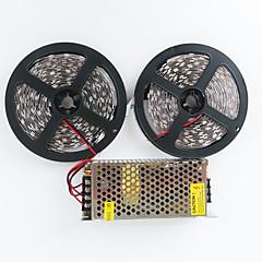 z®zdm 2x5m 140w 600x5050 SMD LED biały zimny / ciepły biały ac110-240v do dc12v10a transformatora