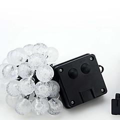 Χαμηλού Κόστους Φωτιστικά λωρίδες LED-Φώτα σε Κορδόνι 30 LEDs Θερμό Λευκό RGB Άσπρο Μπλε Αδιάβροχη <5V
