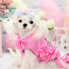 Hund Hundedækkener Hundetøj med snor Solid Lilla Blå Lys pink