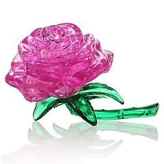 Puzzles 3D - Puzzle Kristallpuzzle Bausteine Spielzeug zum Selbermachen Rosen