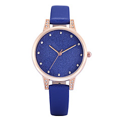 preiswerte Herrenuhren-REBIRTH Damen damas Armbanduhr Quartz Imitation Diamant PU Band Analog Charme Freizeit Modisch Schwarz / Weiß / Blau - Grau Blau Rosa Zwei jahr Batterielebensdauer / Mitsubishi LR626