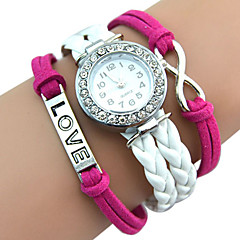 preiswerte Damenuhren-Damen Armbanduhr Armbanduhren für den Alltag / Cool / / PU Band Retro / Freizeit / Böhmische Weiß / Grün / Gold / Edelstahl