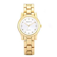 preiswerte Tolle Angebote auf Uhren-REBIRTH Damen Armbanduhr Quartz Armbanduhren für den Alltag Legierung Band Analog Freizeit Modisch Elegant Gold / Rotgold - Gold Weiß Rotgold