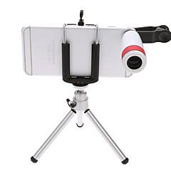 お買い得  三脚、一脚&アクセサリー-三脚ユニバーサルクリップ付き携帯電話の望遠鏡8倍の屋外視認ナイトビジョン単眼望遠鏡
