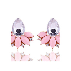Women's Stud Earrings Crystal Geometric Costume Jewelry Floral Crystal Alloy Flower Jewelry For Party Daily Casual