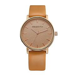 preiswerte Herrenuhren-REBIRTH Herrn Quartz Armbanduhr / Armbanduhren für den Alltag PU Band Freizeit Minimalistisch Modisch Schwarz Weiß Orange Khaki