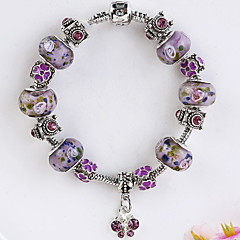 preiswerte Armbänder-Damen Kristall Perlenbesetzt Bettelarmbänder Strang-Armbänder Kristall Armband - Krystall Modisch Armbänder Purpur Für Weihnachts Geschenke