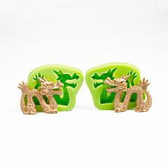 olcso Sütőeszközök és kütyük-torta dekoráció penész kínai sárkány szett szilikon öntőforma csokoládé polimer agyag sugarcraft eszközök színes random