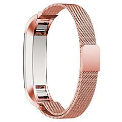 Кофе / Черный / Синий / Роуз / Золотистый / Серебристый Нержавеющая сталь Миланский ремешок Для Fitbit Смотреть 10mm