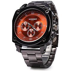 お買い得  メンズ腕時計-SHI WEI BAO 男性用 クォーツ リストウォッチ / カジュアルウォッチ ステンレス バンド ファッション クール ブラック
