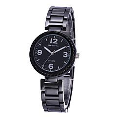 preiswerte Damenuhren-REBIRTH Damen Armbanduhr Quartz Schlussverkauf / Legierung Band Analog Freizeit Modisch Schwarz / Gold - Gold Schwarz / Weiß Schwarz