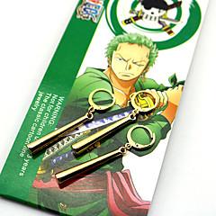 Korut Innoittamana One Piece Roronoa Zoro Anime Cosplay-Tarvikkeet Korvakorut Kulta ABS / Metalliseos Uros / Naaras