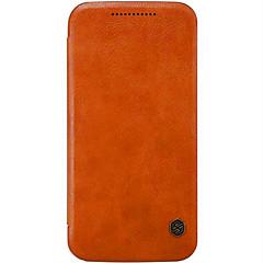 Pentru Carcasă Motorola Titluar Card / Întoarce Maska Corp Plin Maska Culoare solida Greu Piele Autentică Motorola Moto X Play