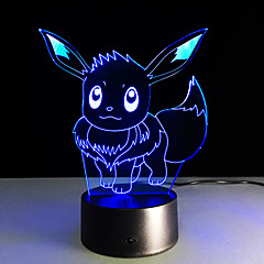 お買い得  LED アイデアライト-子供の赤ちゃん寝常夜灯として最新のポケットシリーズイブラヒモビッチ3D視覚主導lightscolorfulタッチUSB 3Dテーブルランプ