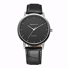お買い得  大特価腕時計-REBIRTH 男性用 クォーツ リストウォッチ ドレスウォッチ / ホット販売 PU バンド カジュアル ブラック ブラウン