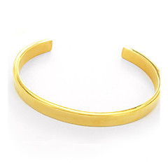 preiswerte Armbänder-Damen Manschetten-Armbänder - Edelstahl Modisch, Ohne Verschluss Armbänder Silber / Golden / Rotgold Für Hochzeit / Party / Alltag