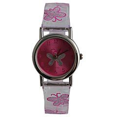 preiswerte Tolle Angebote auf Uhren-Quartz Armbanduhr Wasserdicht Plastic Band Freizeit Schmetterling Modisch Lila