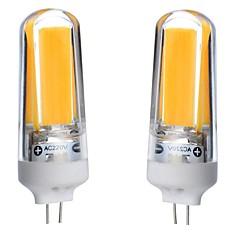 3W G4 LED Φώτα με 2 pin T 1 COB 300-350 lm Θερμό Λευκό Ψυχρό Λευκό Φυσικό Λευκό 3000-6000 κ Αδιάβροχη Με ροοστάτη Διακοσμητικό AC 220-240