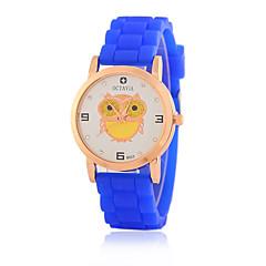 preiswerte Damenuhren-Damen Quartz Armbanduhr / Armbanduhren für den Alltag Silikon Band Freizeit Eule Modisch Schwarz Weiß Blau Rot Orange Braun Grün Rosa